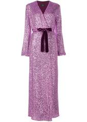 Pinko sequin embellished maxi dress