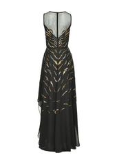 Pinko sequin-embellished panel dress