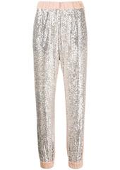 Pinko sequin-embellished track pants
