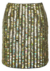 Pinko sequin-embellished zipped skirt