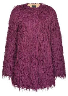Pinko shaggy shearling coat