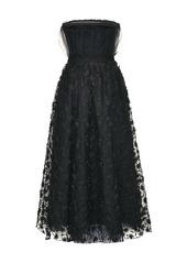 Pinko sheer-overlay flared dress