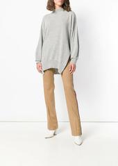 Pinko side stripe flared trousers