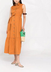 Pinko sleeveless maxi shirt dress