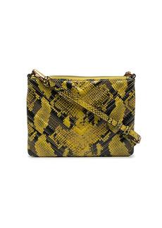 Pinko snake effect pouch bag