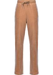 Pinko stripe-side velvet track pants