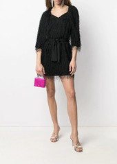 Pinko sweetheart-neck fringed minidress