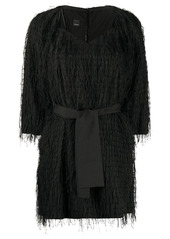 Pinko sweetheart-neck fringed minidress