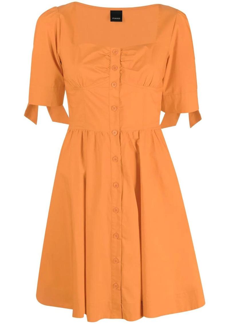 Pinko tied-cuff buttoned-up dress