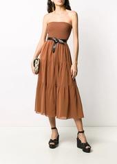 Pinko tiered midi dress