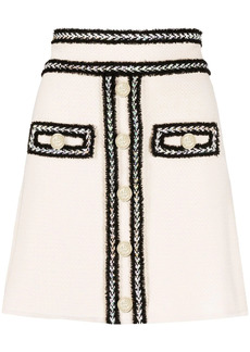 Pinko tweed fitted skirt
