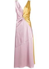 Pinko twisted detail two-tone dress