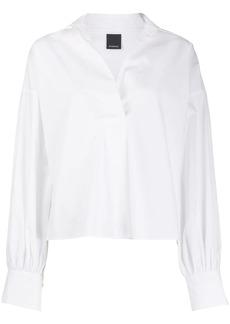 Pinko v-neck ballon-sleeve blouse