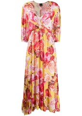 Pinko V-neck floral print dress