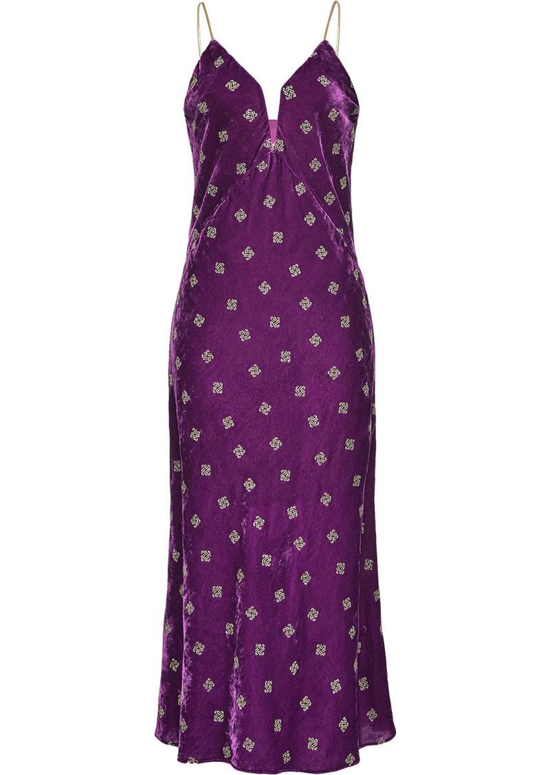 Pinko velvet effect printed dress