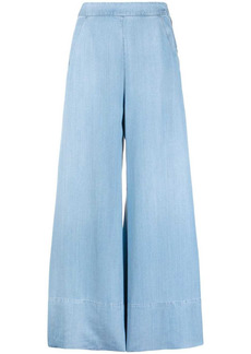 Pinko wide-leg denim trousers