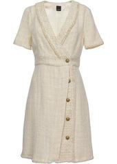 Pinko wrap-front tweed dress