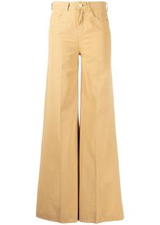 Pinko yellow flared jeans