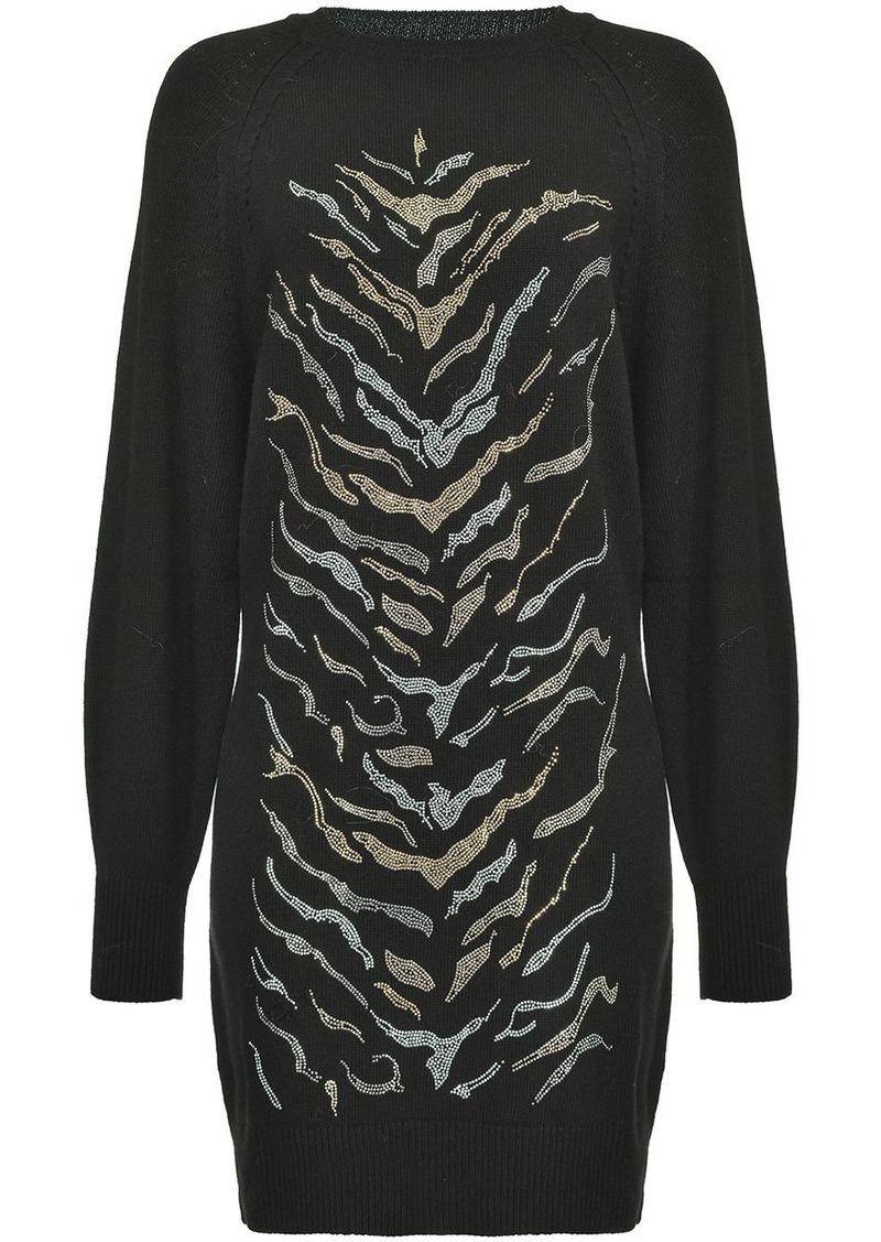 Pinko zebra-pattern jumper dress