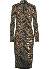 Pinko zig-zag pattern fitted dress