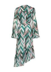 Pinko zigzag print belted dress