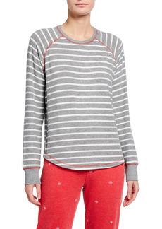 PJ Salvage Joyful Spirit Long-Sleeve Striped Jersey Top