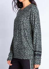 PJ Salvage Animal Print Pullover Top