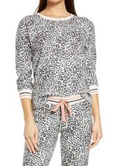 PJ Salvage Animal Print Thermal Pajama Top