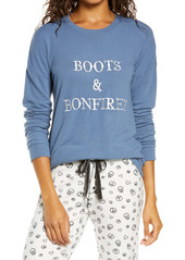 PJ Salvage Boots & Bonfires Pajamas Top