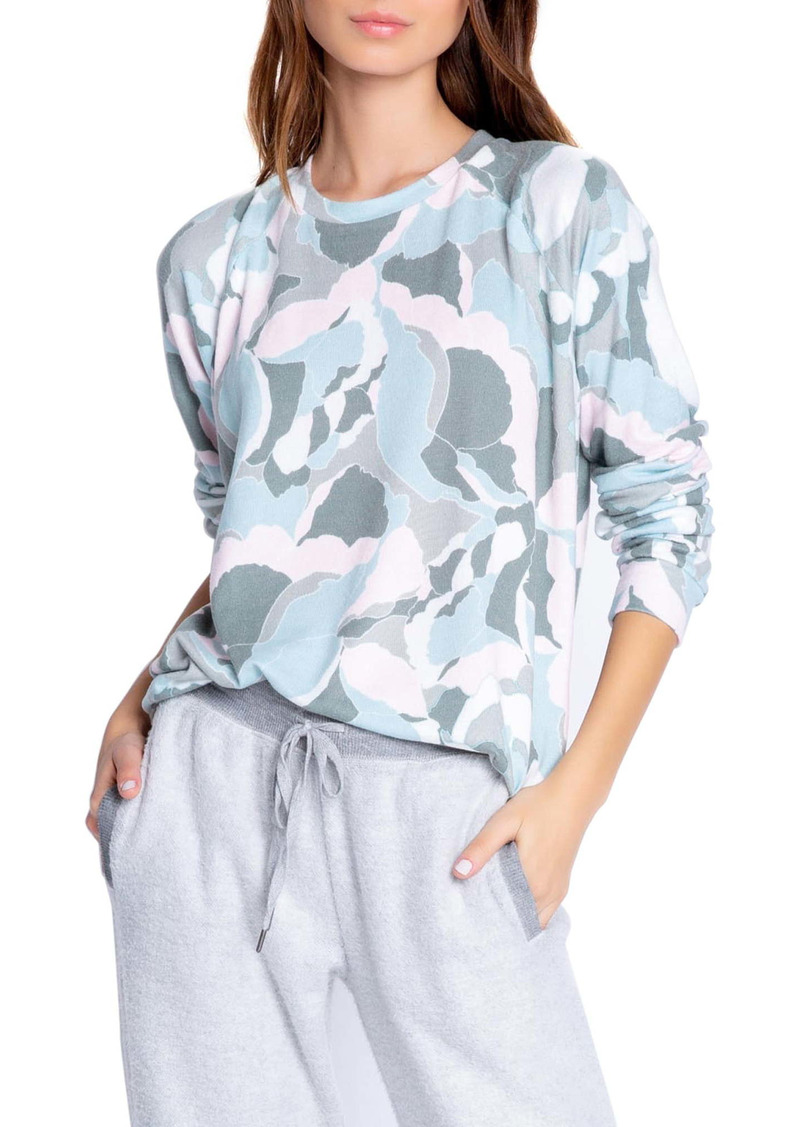 PJ Salvage Camo Bloom Jersey Top
