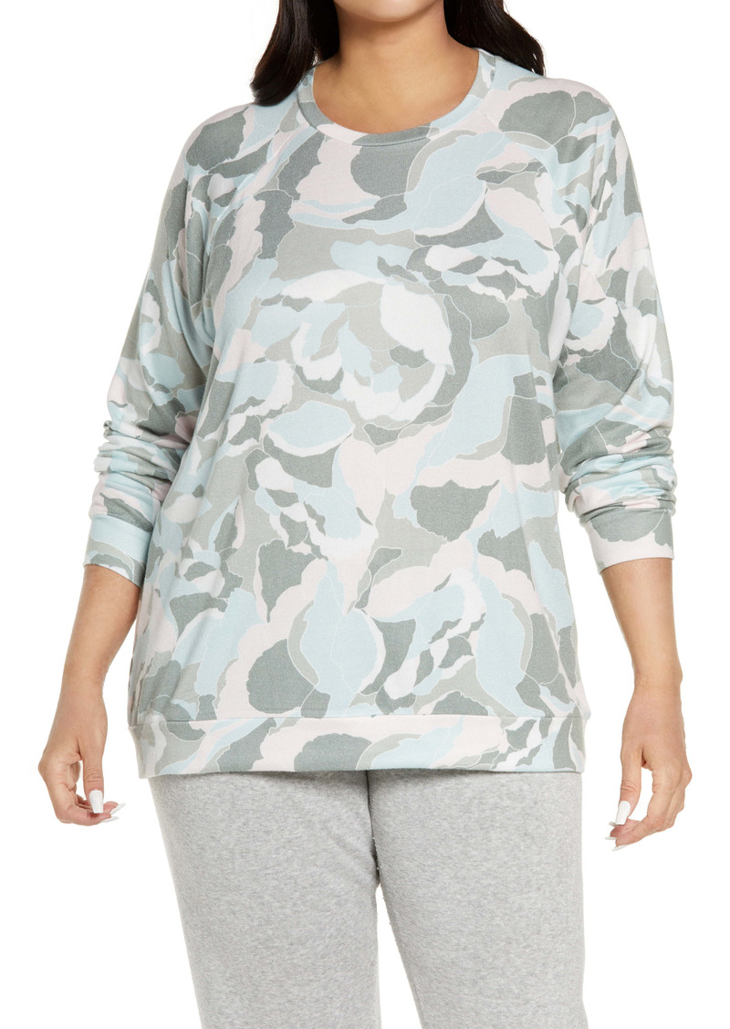 PJ Salvage Camo Bloom Women's Pajama Top (Plus Size)