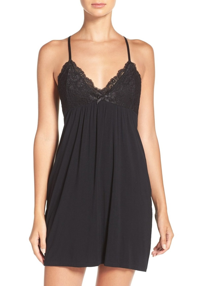 PJ Salvage Lace Racerback Jersey Chemise