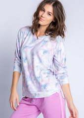 PJ Salvage Marble Print Jersey Sweatshirt