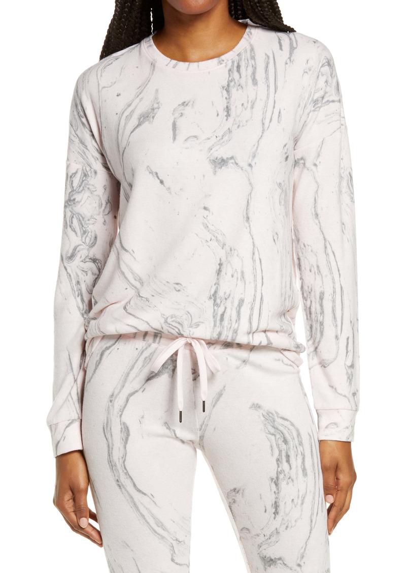 PJ Salvage Marble Print Pajama Top