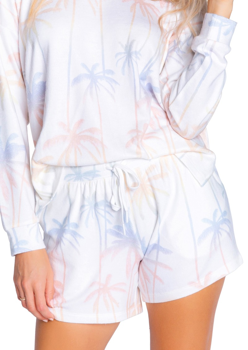 PJ Salvage Palm Print Lounge Shorts