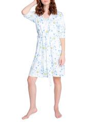 PJ Salvage Smiley Tie Dye Hooded Short Robe