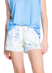 PJ Salvage Smiley Tie Dye Lounge Shorts