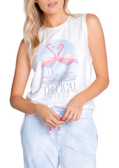 PJ Salvage Tropical Jersey Muscle Tank