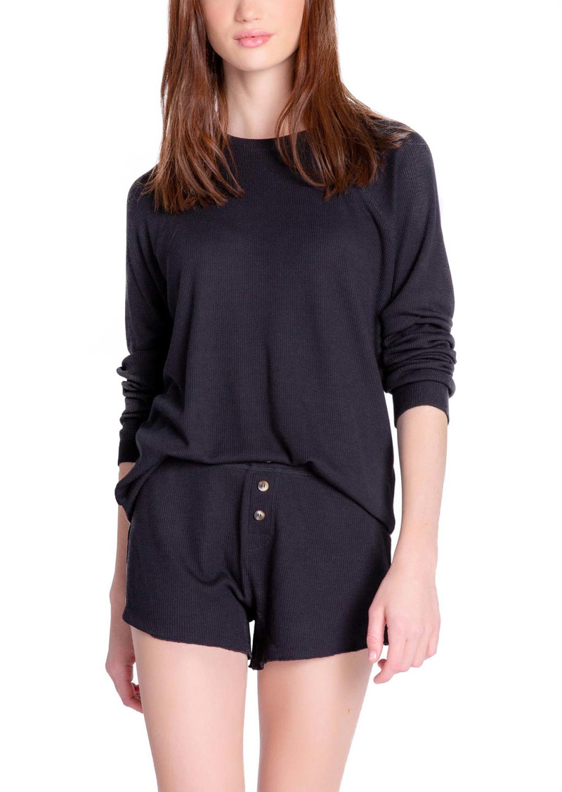 PJ Salvage Waffle Knit Pajama Shorts