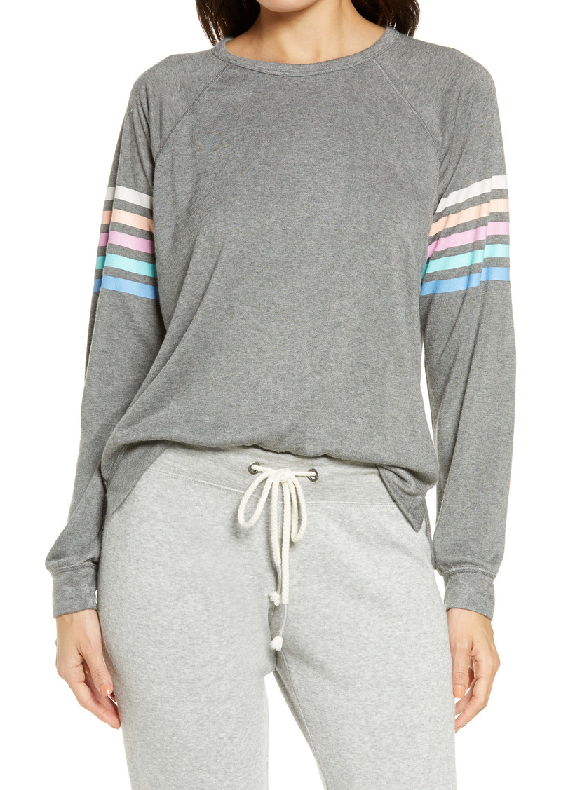 PJ Salvage Women's Color Classic Stripe Sleeve Pullover