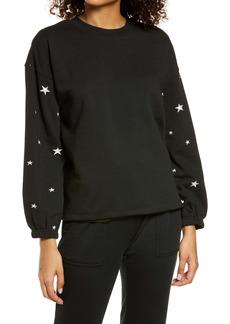 PJ Salvage Women's Embroidered Star Sweatshirt
