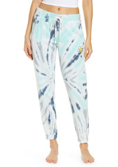 PJ Salvage Women's Embroidered Tie Dye Joggers