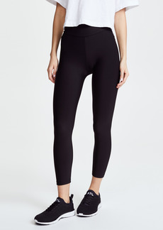 Plush Fleece Lined Cropped Athletic Leggings