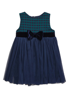 Popatu Check Sleeveless Tulle Dress (Baby)