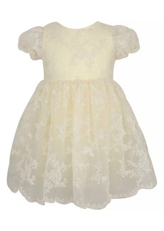 Popatu Embroidered Lace Fit & Flare Dress (Toddler Girl, Little Girl & Big Girl)