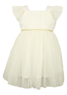 Popatu Flutter Sleeve Tulle Dress (Baby)