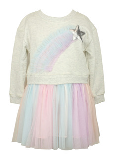 Popatu Rainbow Star Tulle Dress (Baby)