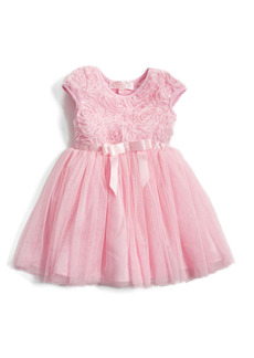 Popatu Short Sleeve Tulle Dress (Baby)