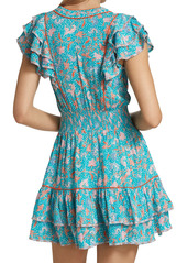 Poupette St Barth CamilaSmocked Mini Dress