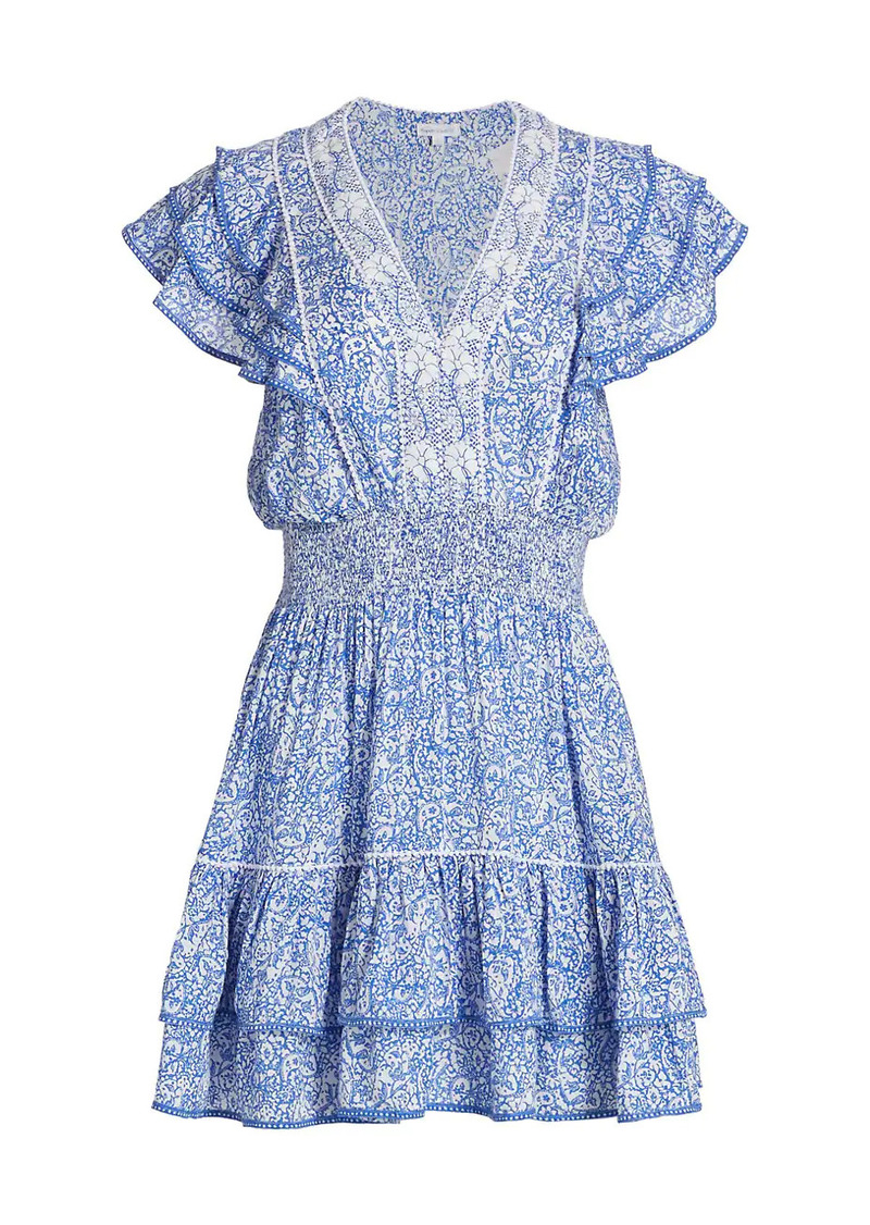 Poupette St Barth Camilia Ruffle Paisley Mini A-Line Dress